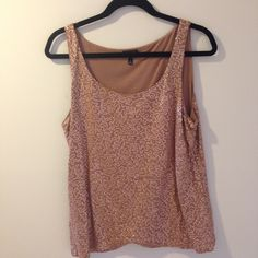 NWOT - flirty Talbots sequined tank top Great for layering or wearing alone. Talbots Tops Tank Tops