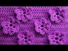 Узор с цветочками Вязание крючком Crochet pattern with flowers 83 - YouTube
