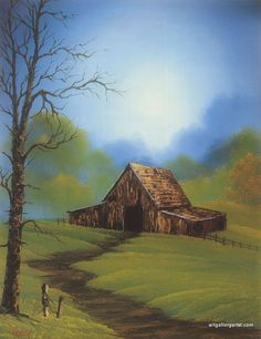 countryside_barn. by Bob Ross
