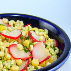 One Perfect Bite: Corn and Radish Salad