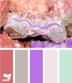 geode brights-these would be gorgeous colors for a early summer wedding or for my living room HMMMMMM