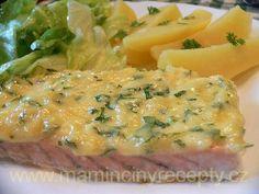 Losos se sýrem No Salt Recipes, Ham, Mashed Potatoes, Sushi, Treats, Food And Drink, Ethnic Recipes, Fish, Whipped Potatoes