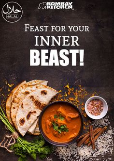 Take over your inner #beast with a #BombayKitchen #feast. Pick your favorite from here: www.bombaykitchen.com. #HalalCertified Restaurant Advertising, Restaurant Poster, Food Advertising, Food Menu Design, Food Poster Design, Pizzeria Design, Comida India, Hotel Food, Food Banner
