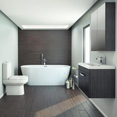 Turn your bathroom into a stunning contemporary setting with our Brooklyn Black Freestanding Bath Suite. Now available at Victorian Plumbing.