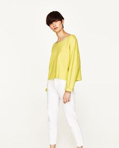 ZARA - WOMAN - BOATNECK SWEATSHIRT WITH BACK BOWS
