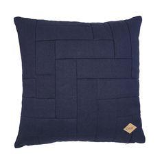 Cuscino decorativo in tela di cotone blu scuro diOilily.