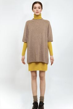 ffc448bf35f MANDKHAI double layer dress in beige and yellow.