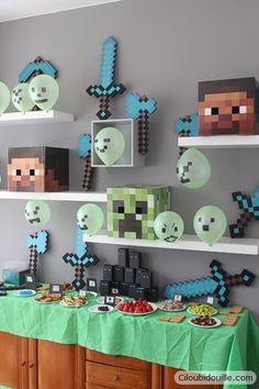Anniversaire Minecraft | Ciloubidouille