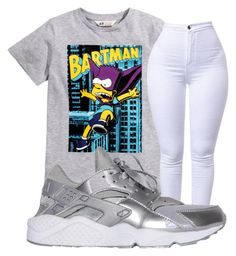 """""""BARTMAN"""" by qveentricee ❤ liked on Polyvore featuring H&M and NIKE"""