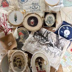 Bordados de hace tanto, de ayer, de después, de mañana. Bordados, bordados, bordados ✂️ #estudiogimenaromero #broderie #embroidery #bordado #ilustracióntextil #textileart