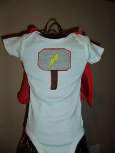 Thor Super Hero Onesie. $10.00, via Etsy.