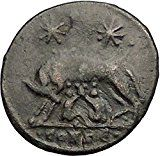 CONSTANTINE I Romulus Remus Twins She-Wolf Rome Commemorative Roman Coin i57395 Numismatic Coins, Romulus And Remus, Constantine The Great, Rome City, She Wolf, Wolf Spirit, Old Coins, Ancient Art, Roman