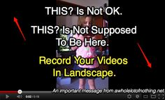 This? Is Not OK: iPhone Videos Recorded In Portrait