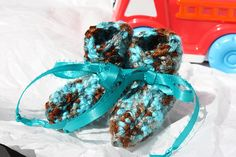 Preemie Baby Boy Booties  Crochet Preemie Booties  Turquoise #SpecialTGIF