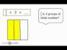 Divide fractions by whole numbers using models - 6.NS.1 - YouTube