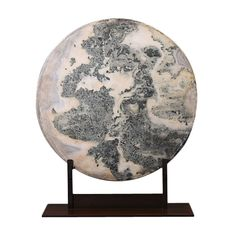 A Chinese Dream Stone Plate  Dream stones have been cut out of rocks by monks in ancient China.