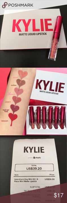 NEW KYLIE COSMETICS MINI APRICOT LIQUID LIPSTICK Apricot ONLY from the KYLIE VALENTINE'S DAY COLLECTION MINI MATTES. Product comes with .02fl oz. Bought this from the Kylie Pop Up Shop in Soho NYC. Let me know if you have any questions. DOES NOT COME WITH BOX. NEVER OPENED/NEVER USED. 100% AUTHENTIC! Kylie Cosmetics Makeup Lipstick