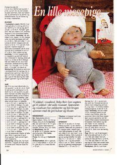Album Archive - Dukketøj til Baby Born 2 - Ingelise Knitting Dolls Clothes, Knitted Dolls, Doll Clothes Patterns, Crochet Dolls, Doll Patterns, Reborn Dolls, Baby Dolls, Baby Born Clothes, Baby Booties Free Pattern