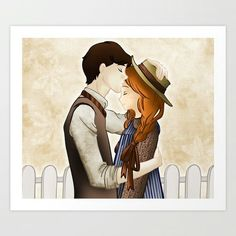 Anne of Green Gables- Anne and Gilbert Blythe -- really nicely drawn but Gil looks too pale for me. and why does everyone draw him with black hair? Gilbert Blythe, Movies And Series, Netflix Series, Art Series, Anne And Gilbert, Lucas Jade Zumann, Amybeth Mcnulty, Anne White, Httyd