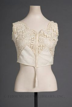 Camisole-Style Brassiere  Date:  c. 1908–1910  Material:  Cotton