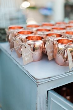 DIY Wedding Favors - DIY Copper Mug Favors - Do It Yourself Ideas for Brides and Best Wedding Favor Ideas for Weddings - Step by Step Tutorials for Making Mason Jars, Rustic Crafts, Flowers, Small Gif Wedding Favors And Gifts, Creative Wedding Favors, Wedding Decorations On A Budget, Candle Wedding Favors, Wedding Ideas, Wedding Table, Wedding Planning, Wedding Inspiration, Outdoor Wedding Favors