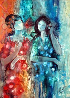 Iraqi artist Vian Sora - i have been following her for years, her paintings feel ancient and mystic.