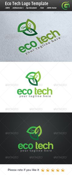 Eco Tech by legendlogo Logo Description The logo is Easy to edit to your  own company name.The logo is designed in vector for highly resizable and  printin 9fb1152ea036