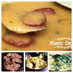 Slurp … Slurp … hummm,  é Sopa!  e é de se lamber. SOPA DE MANDIOQUINHA COM CALABRESA, uma sopa creme,  encorpada ao mesmo tempo delicada, super cremosa e saborosa a base de mandioquinhas, também conhecida como batata baroa,  com tenras fatias de calabresa defumada e croûtons crocantes para dar textura e sabor.  http://www.montaencanta.com.br/dom-do-chefe/sopa-de-mandioquinha-com-calabresa/