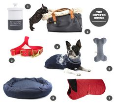 GIFT GUIDE | The Hipster Hound - From casually cool denim dog beds and toys, to on-trend geek-chic Christmas jumpers, our Holiday Gift Guide for the Hipster Hound is jam-packed with achingly cool goodies #dogs #doglovers #style #design #holidays #holidaygifts #christmas #cute #puppies #puppy #dogbed #dogcoat