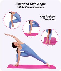 Extended Side Angle (Parsvakonasana) is a standing yoga pose that strengthens and stretches your entire body. Read this guide for detailed information on this pose!