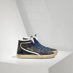 Ggdb Slide Sneakers In Suede Con Leather Star