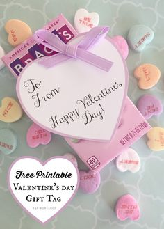 Printable Valentine Heart Gift Tags