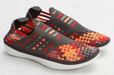 Nike Solarsoft Rache Woven Premium   Midnight Fog & Total Orange