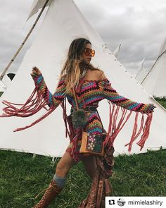 Oh my days! @mimielashiry totally fabulous in this crochet dress! #Repost @mimielashiry (@get_repost) ・・・ We out here at Glastonbury Tune into @spell_byronbay 's insta story TOMORROW morning (AUSTRALIA) or TONIGHT (Northern Hemisphere) and be a part of adventure