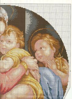 """Photo from album """"cuadros on Yandex. Counted Cross Stitch Patterns, Cross Stitch Charts, Religious Cross, Cross Stitching, Needlepoint, Madonna, Needlework, Canvas Art, Teddy Bear"""
