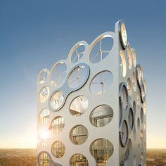 Wow........Electricity generating wind turbines built right into the structure of the building....COR Oppenheim
