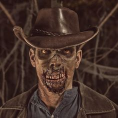 Don't worry about bitin' off more'n you can chew; that my job! This #Cowboy #Zombie comes from @rickprince.mua. He used our Dragon Skin and Skin Tite silicones. #moldmaking #casting
