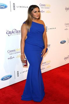 Pin for Later: Mindy Kaling Feels Like She's Living a Dream When She's Wearing This 1 Designer Mindy Wearing Her Elizabeth Kennedy Dress at the Gracie Awards