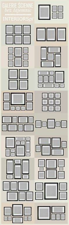 Gallery wall planner.  Use paper templates and similar frames to save on thine and headaches.