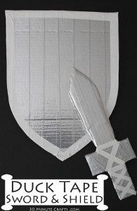 Duct Tape Sword and Shield