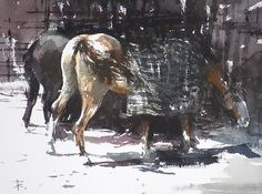 Two Horses by Tony Belobrajdic