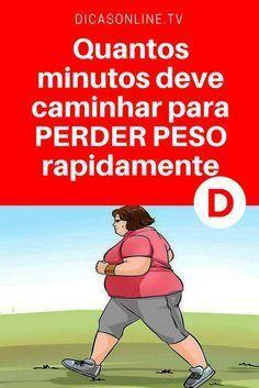 Caminhada para emagrecer   Quantos minutos deve caminhar para PERDER PESO rapidamente? Saiba quantos passos deve dar por dia para perder peso.