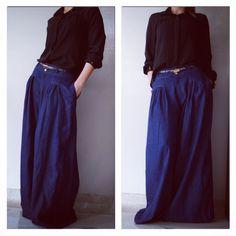 Pantalones en índigo
