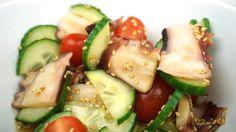 Traditionell japanischer Oktopus Salat. Frisch, sommerlich und etwas exotisch. Gesund und leicht, besonders für warme Temperaturen.