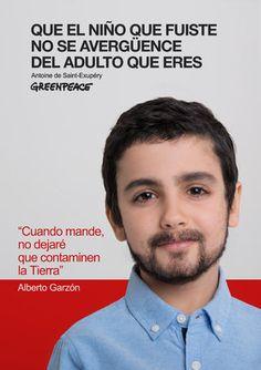 """""""Que el niño que fuiste no se avergüence del adulto que eres. Campaña publicidad creativa Greenpeace. Medio ambiente. ONG."""