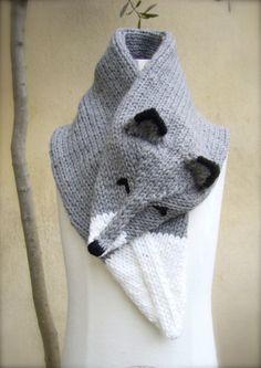 Handknit  Wolf Scarf by MissMartok on Etsy, €38.00