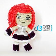 Ella - Beautiful Crochet Amigurumi Plush Doll by CyanRoseCreations, $40.00