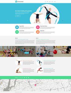 Gymnastics School #website #template. #themes #business #responsive #websitethemes