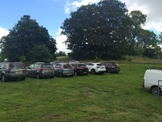 Cars parked for 2016 open day