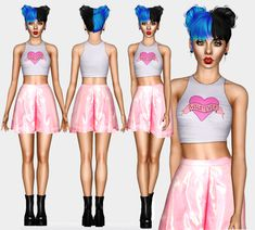 Melanie Martinez - Crop Tank Mermaid Skirt  ( REAL LOOK ) For more contents, visit my page on facebook ( ❤ ) Please do not Modify or Retexture my meshes without myPermission! Thank you ♥ DOWNLOAD